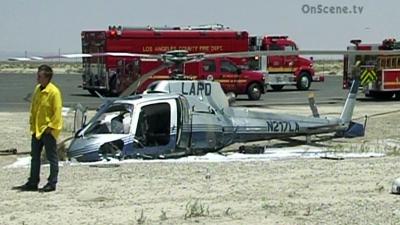 Acidente com aeronave LAPD - KTLA TV