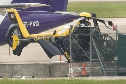 EC135 - West Midland Police/UK destruído em um ataque