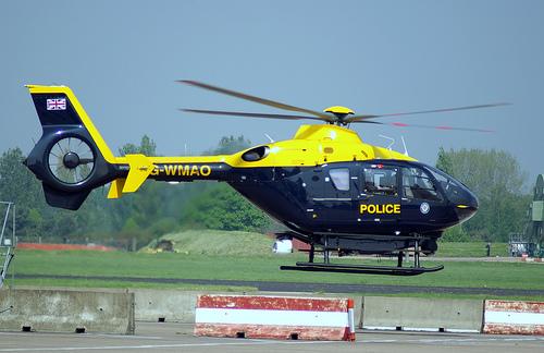 Foto antiga do G-WMAO da West Midlands Police