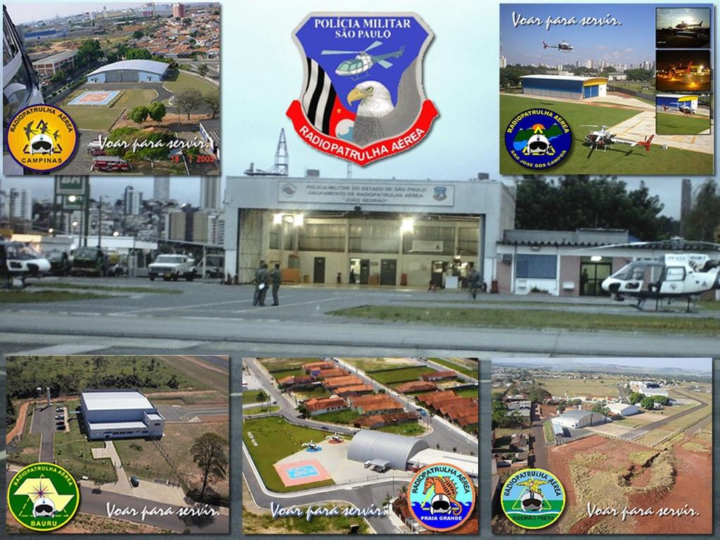 Base São Paulo (foto maior) e suas Bases de Campinas e São José dos Campos (acima) e Bauru, Praia Grande e Ribeirão Preto (abaixo)