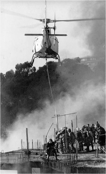 Tripulação: Cap Monte Oliva (Cmt), Ten Beni (co-piloto - lançador) e Sgt Pimental (enfermeito - cesto)