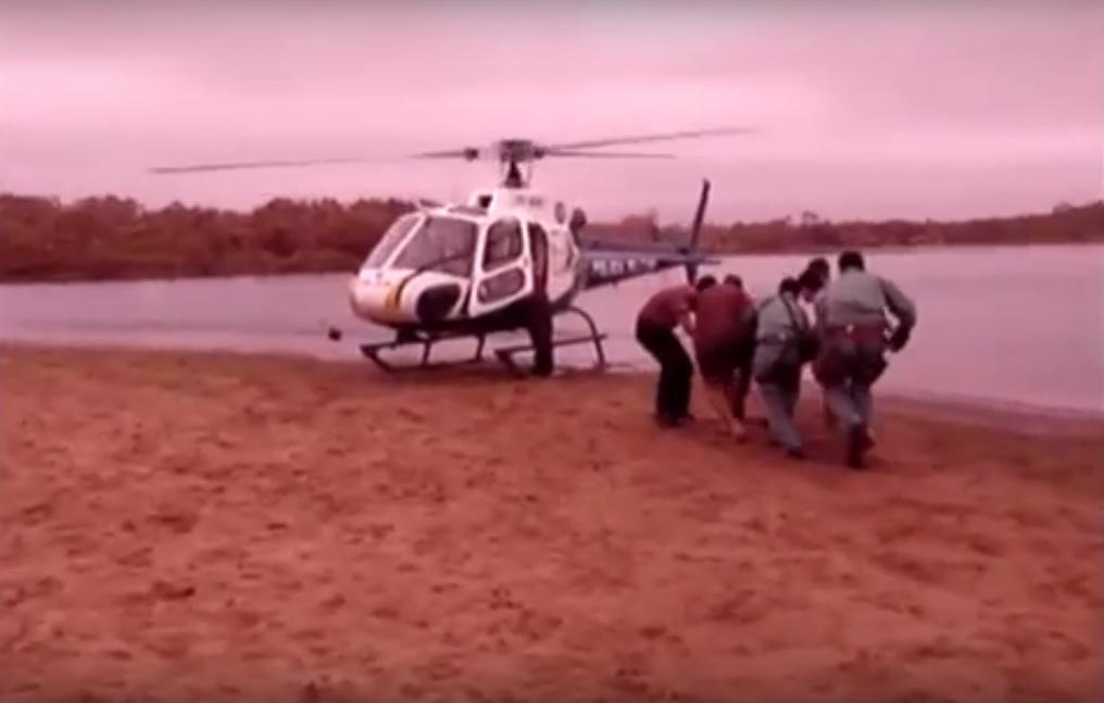 Momento do embarque no helicóptero do CIOPAer.