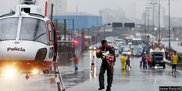 Ocorrência de resgate aeromédico em São Paulo, em 27JAN09