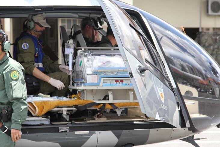 GRAER realiza transporte aéreo de recém-nascido com risco de vida do litoral para Curitiba