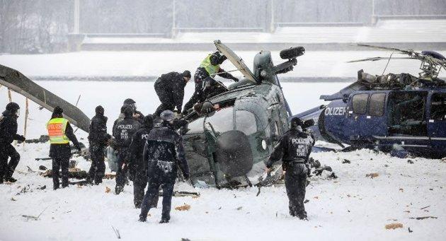 Helicópteros da polícia alemã se chocam em Berlim 2
