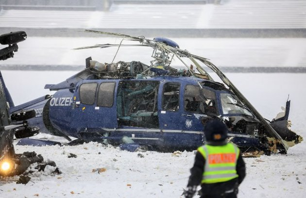 Helicópteros da polícia alemã se chocam em Berlim 5