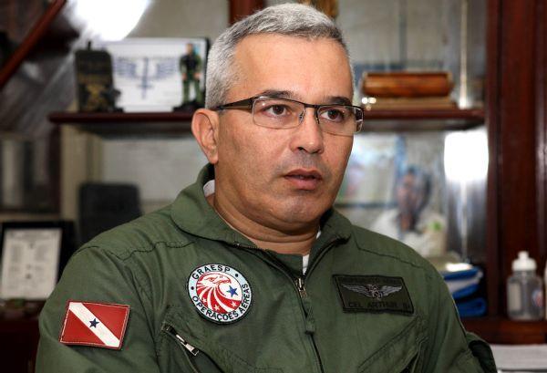 Coronel Arthur Morais, diretor do Grupamento Aéreo de Segurança Pública do Pará (GRAESP)
