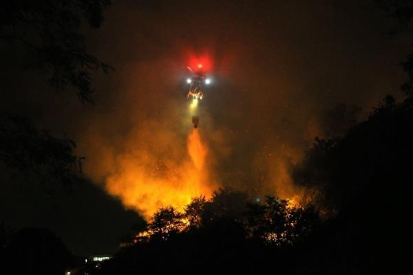NOTAer/ES apoia combate a incêndio em Vitória/ES