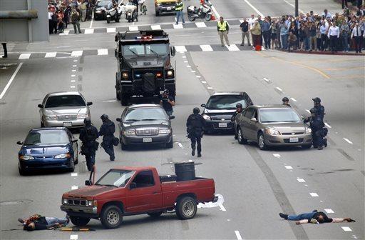Los Angeles efetua demonstração de resposta a um ataque terrorista