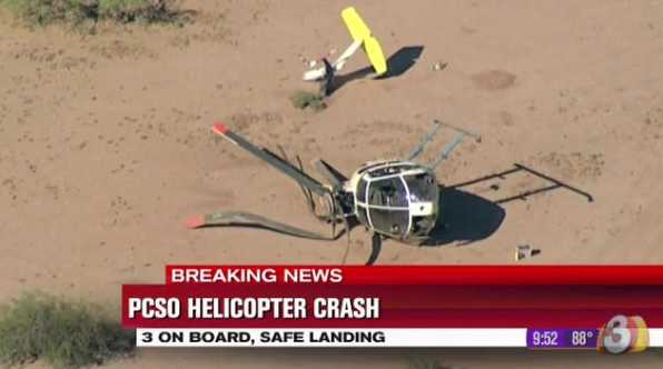 Acidente com helicóptero policial americano