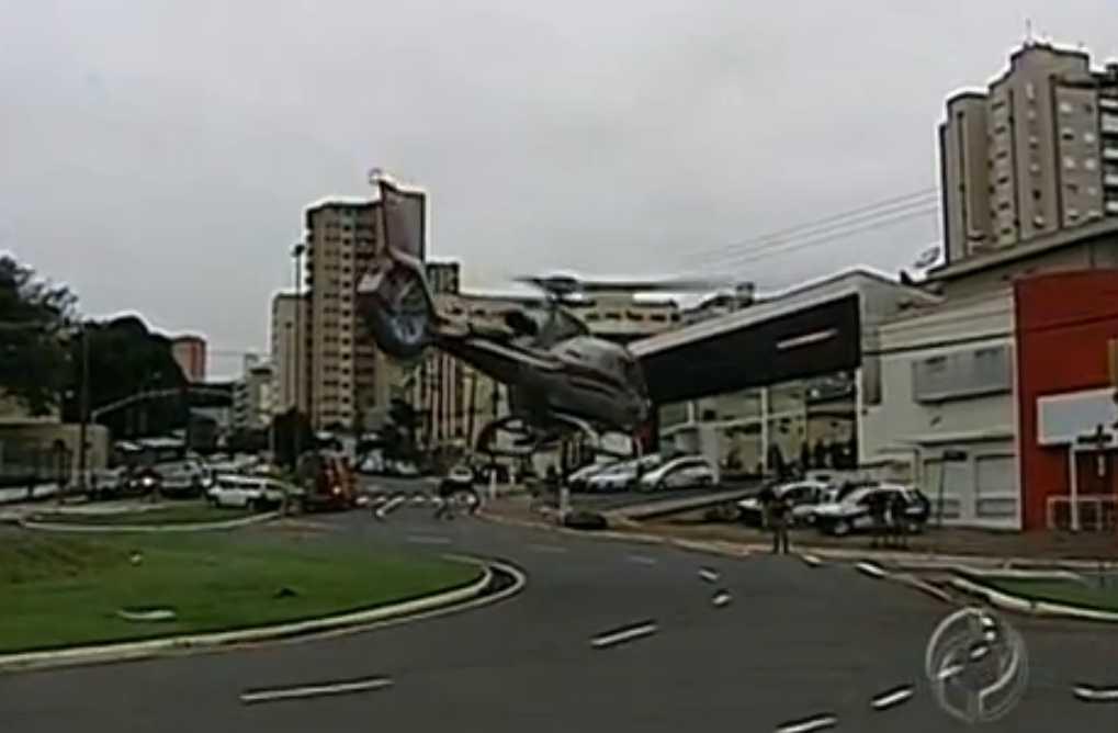 Criança é transferida de hospital em Apucarana com ajuda de helicóptero do GRAER-PR