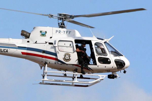 Helicóptero Potiguar 01 que ajudou na prisão do casal.