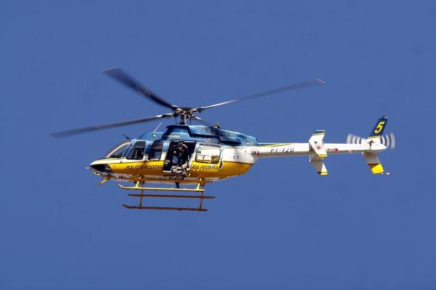 Helicóptero da Policia Rodoviária Federal.