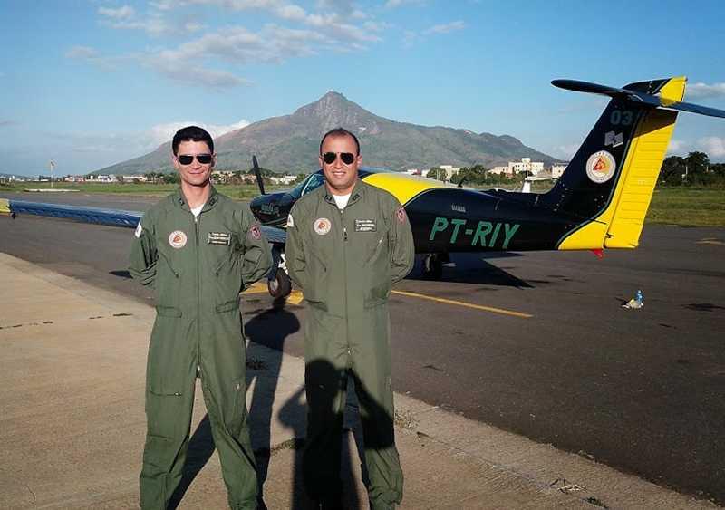Aviação de Asa Fixa: após o traslado, no aeroporto de Governador Valadares.