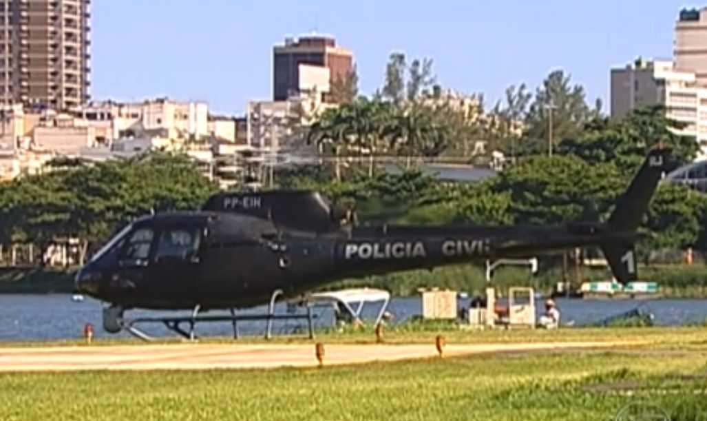 Helicópteros usados pela Polícia Civil do RJ estão parados