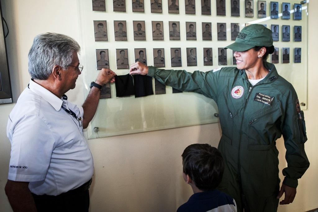 Cap PM Renata Jeane Paiva Rocha, comandante de helicóptero