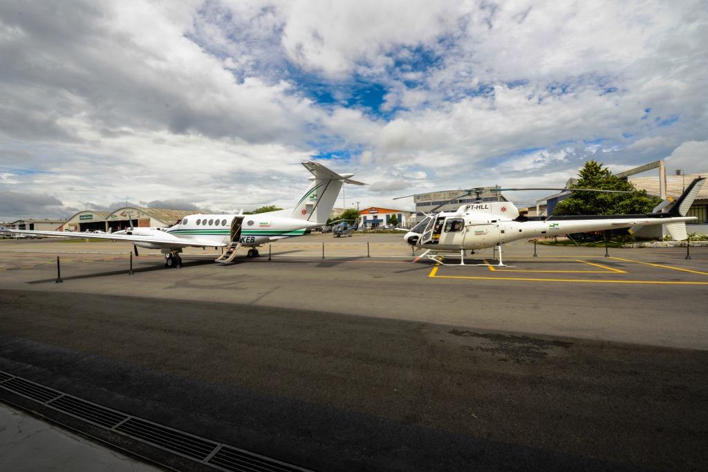 Serviço aeromédico do Estado ganha reforço de um avião UTI e um helicóptero