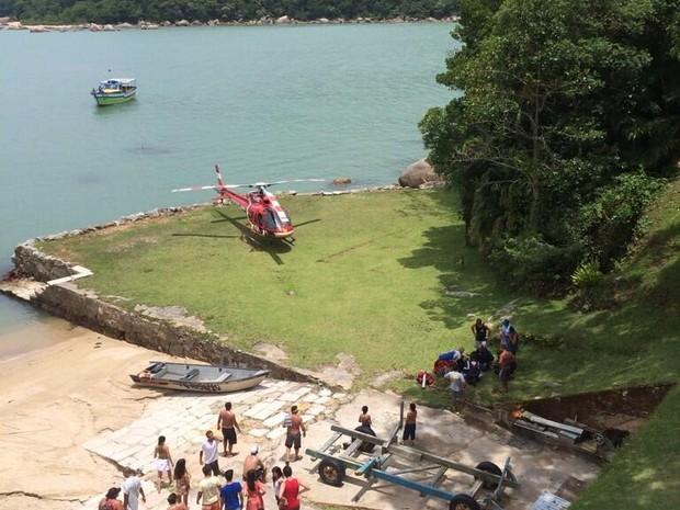 Acidente foi na Ilha de Anhatomirim (Foto: BOA/CMBSC)