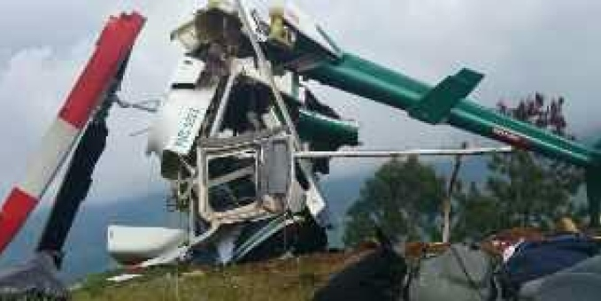 Derrubado helicóptero da polícia na Colômbia