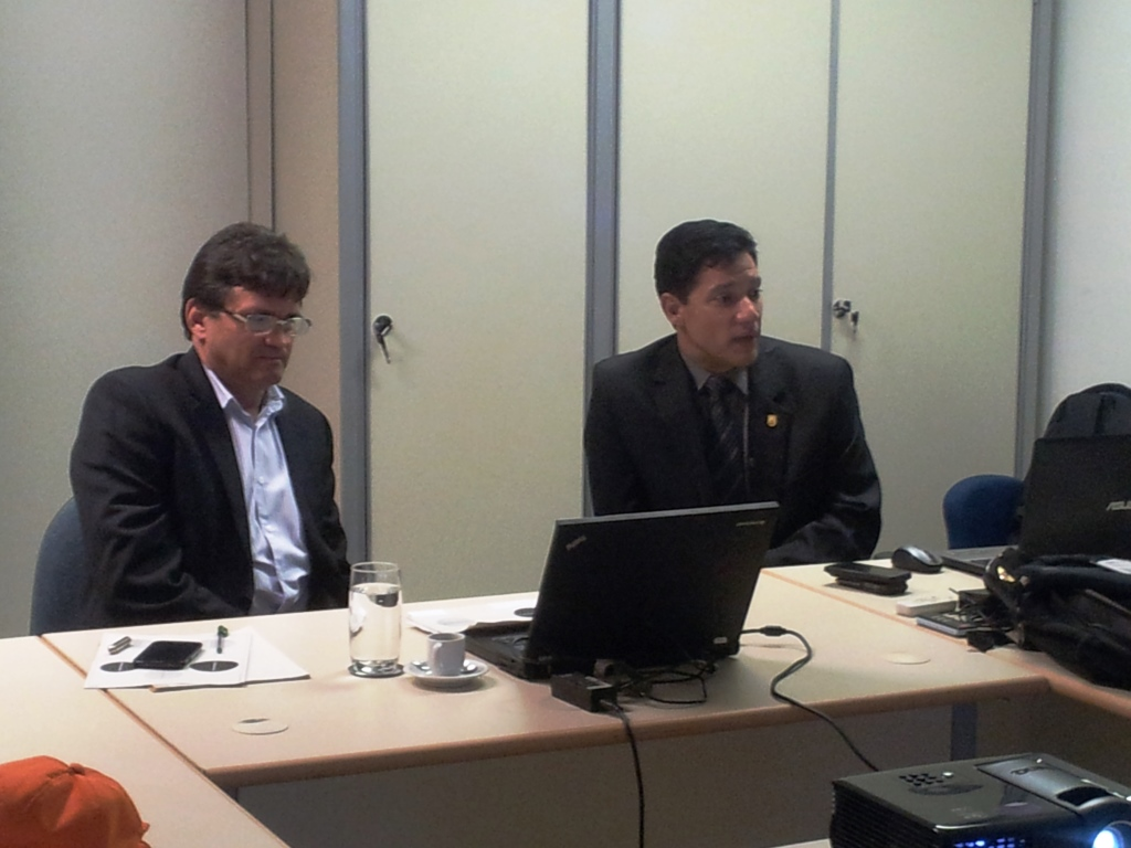 Pedro de Souza Silva e Cel Douglas Mauro Ribeiro conduziram a 1a. Reunião do Grupo de Trabalho - Complexo de Aviação de Segurança Pública no Distrito Federal