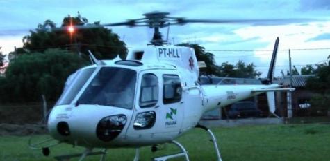 Helicóptero do Consamu poderá pousar em terreno do Hospital Universitário do Oeste do Paraná