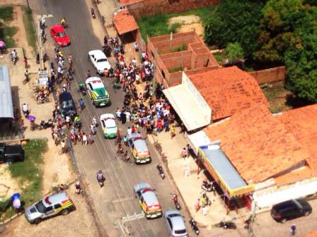 Helicóptero do Gtap localiza bandidos que atiraram em viatura