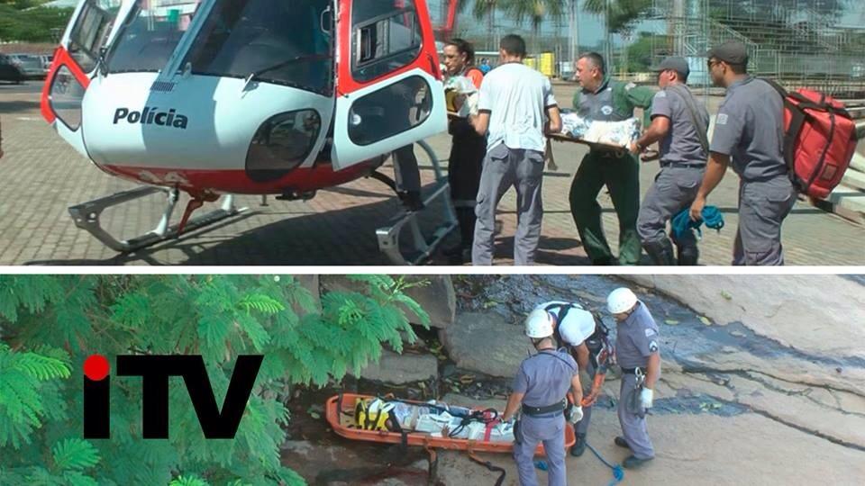 Mulher pula de ponte em Salto, e Helicóptero Águia participa da ação