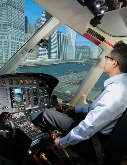 CAE helicopter simulator
