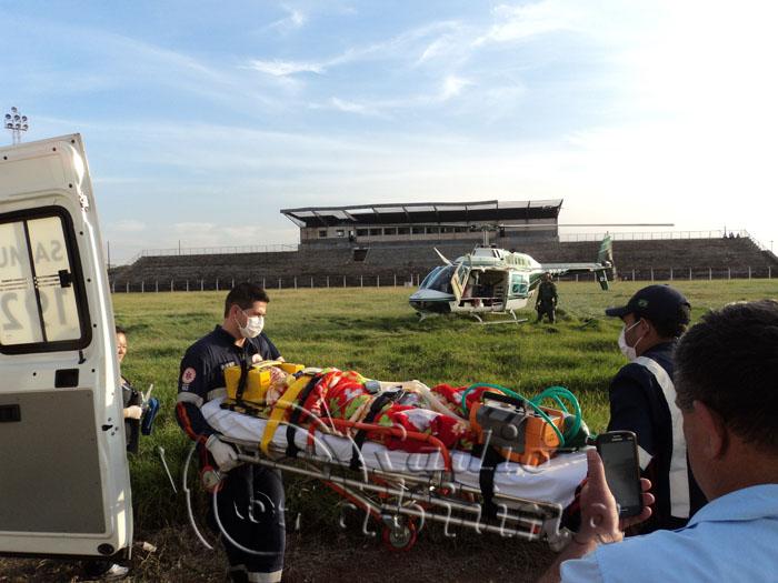 Helicóptero do GRAer socorre garota com AVC em Bandeirantes/PR
