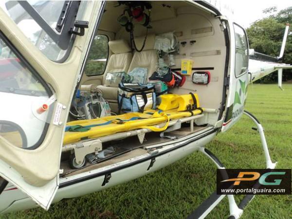 Helicóptero do Consamu transporta garoto com trauma de tórax no Paraná 2