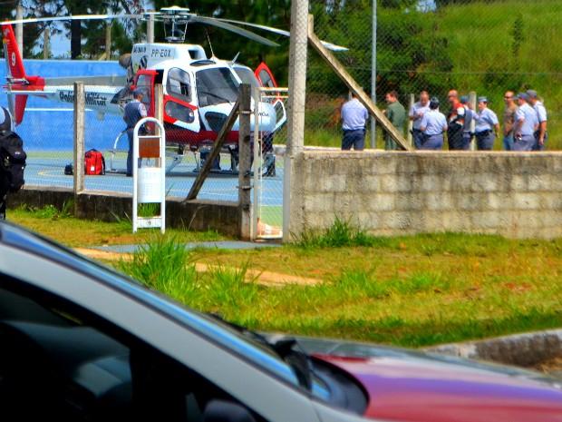 Policial ferido em acidente na região é transferido pelo 'Águia' para SP