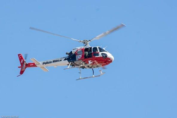 PM de Tupã realiza operação com ajuda do helicóptero Águia