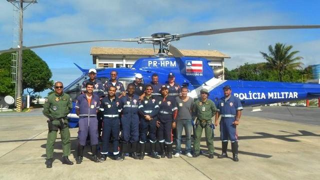 Helicóptero do Grupamento Aéreo já encontra-se em Porto Seguro/BA