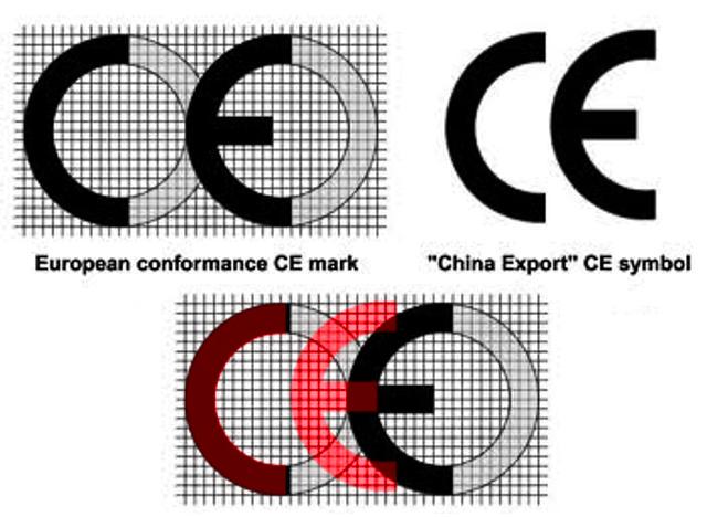 """O problema em pauta surgiu depois que fabricantes chineses gravaram nos seus mosquetões uma marcação CE (""""China Export"""") muito similar ao da comunidade européia, praticamente idêntica, de forma que um leigo não conseguiria identificar a diferença."""