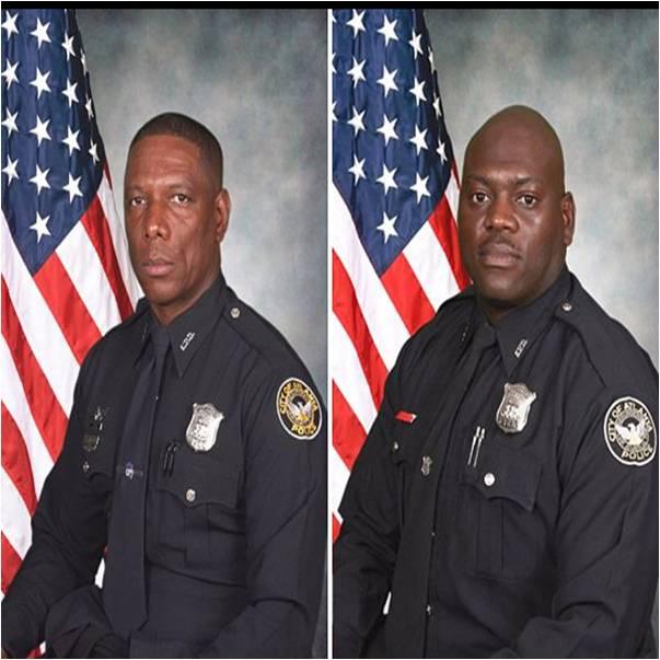 Departamento de Polícia de Atlanta - Agentes da polícia de Atlanta Richard J. Halford, 48, de Lithia Springs e Shawn A. Smiley, 40, de Lithonia, morreram quando o helicóptero que pilotavam caiu no dia 3 de novembro de 2012, durante uma busca por um menino desaparecido.