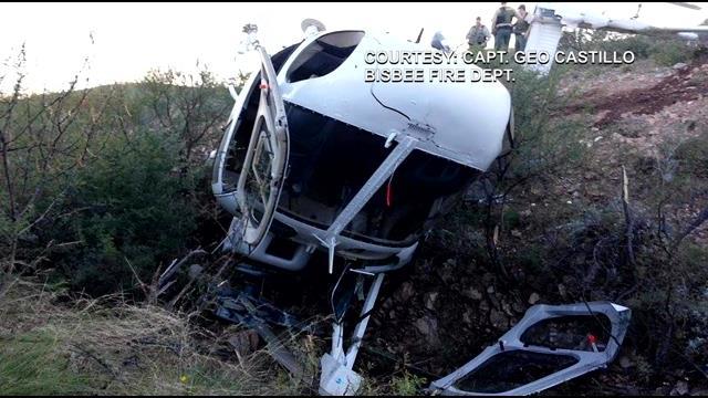 Foto cedida por Capitão Geo Castillo, Corpo de Bombeiros de Bisbee