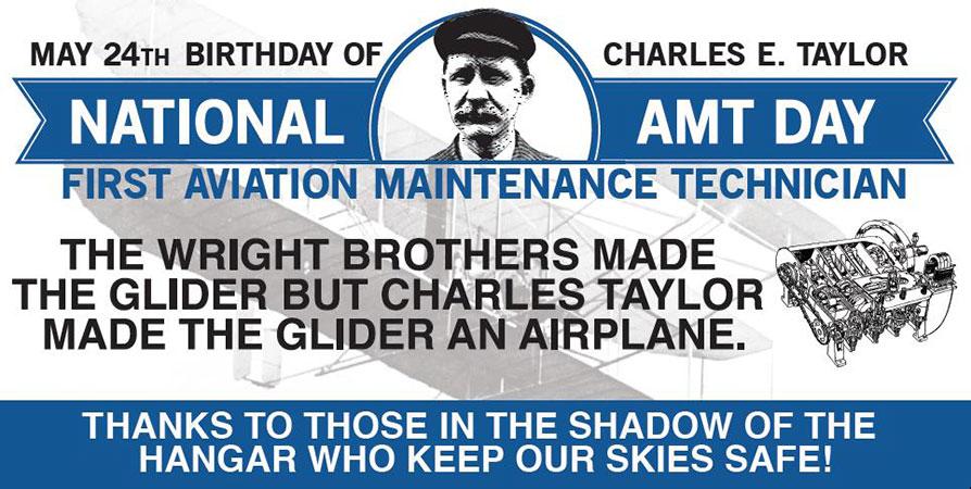 Figura 3 - Banner publicitário referente ao Dia do Técnico de Manutenção de Aviação. Fonte: Professional Aviation Maintenance Association (2013) .