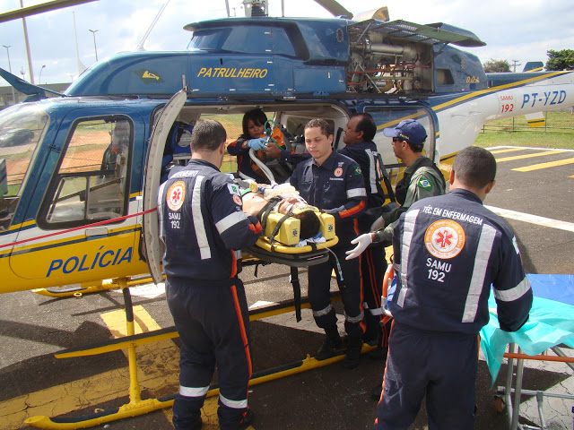 Equipe Aeromédica da Base PRF/SAMU - Brasília/DF