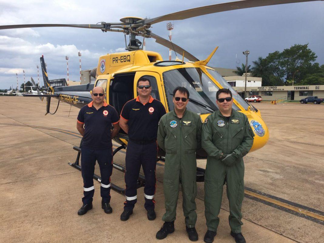 Helicóptero do DETRAN DF faz transporte de órgãos para transplante