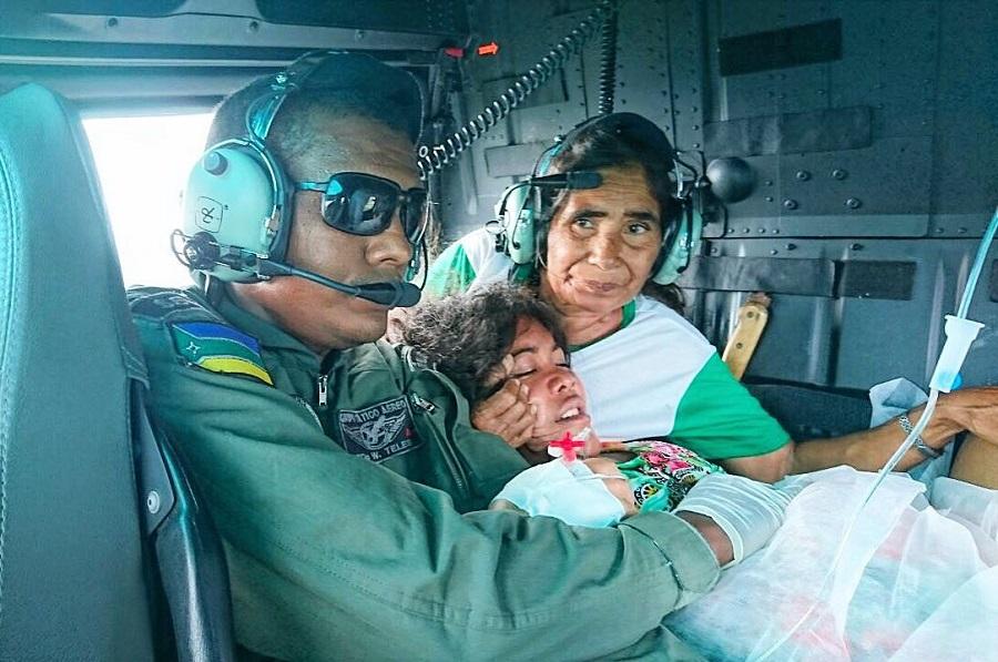 Em pleno voo, do Bailique para Macapá, criança nasce na aeronave. Foto: GTA