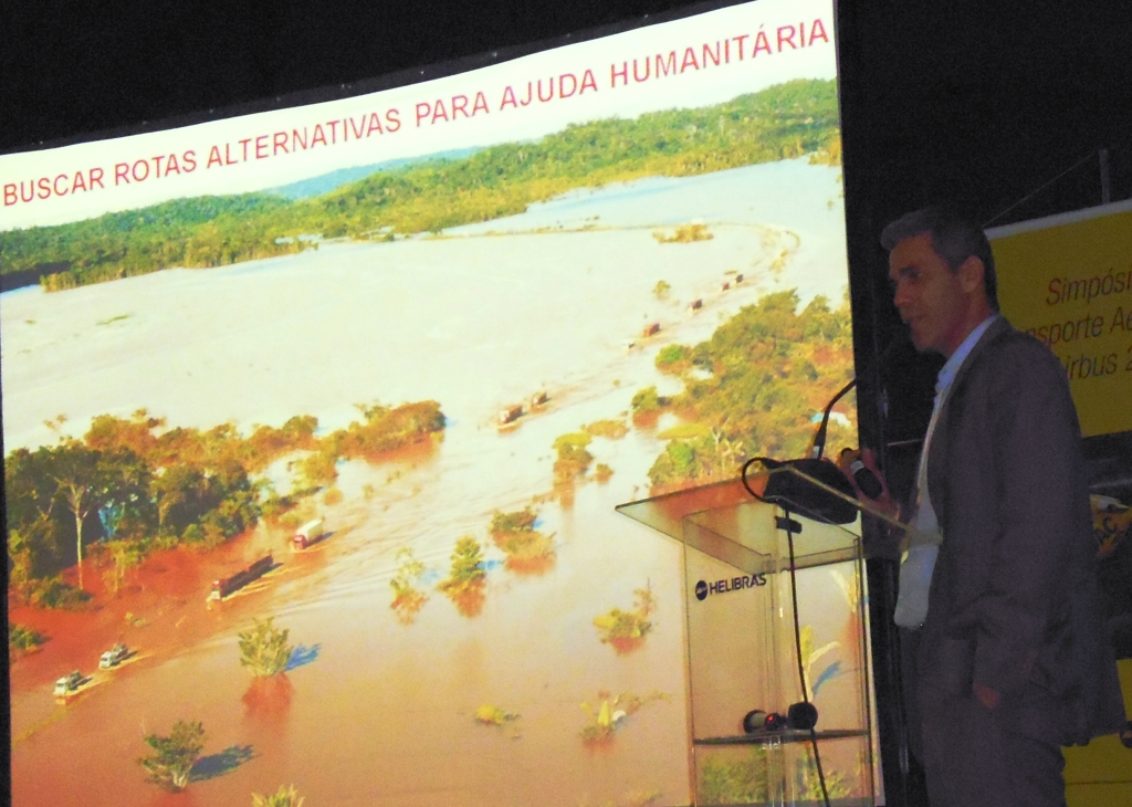 Cel BM Élcio Alves Barbosa, Diretor do Centro Nacional de Gerenciamento de Riscos e Desastres (Cenad). Foto: Eduardo Alexandre Beni.