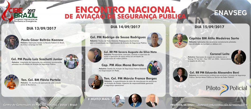 Banner Encontro Nacional da aviação de segurança publica palestras