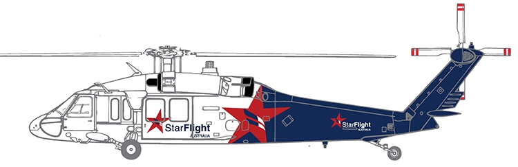 Como o Black Hawk da StarFlight ficará em operação. (StarFlight Austrália)