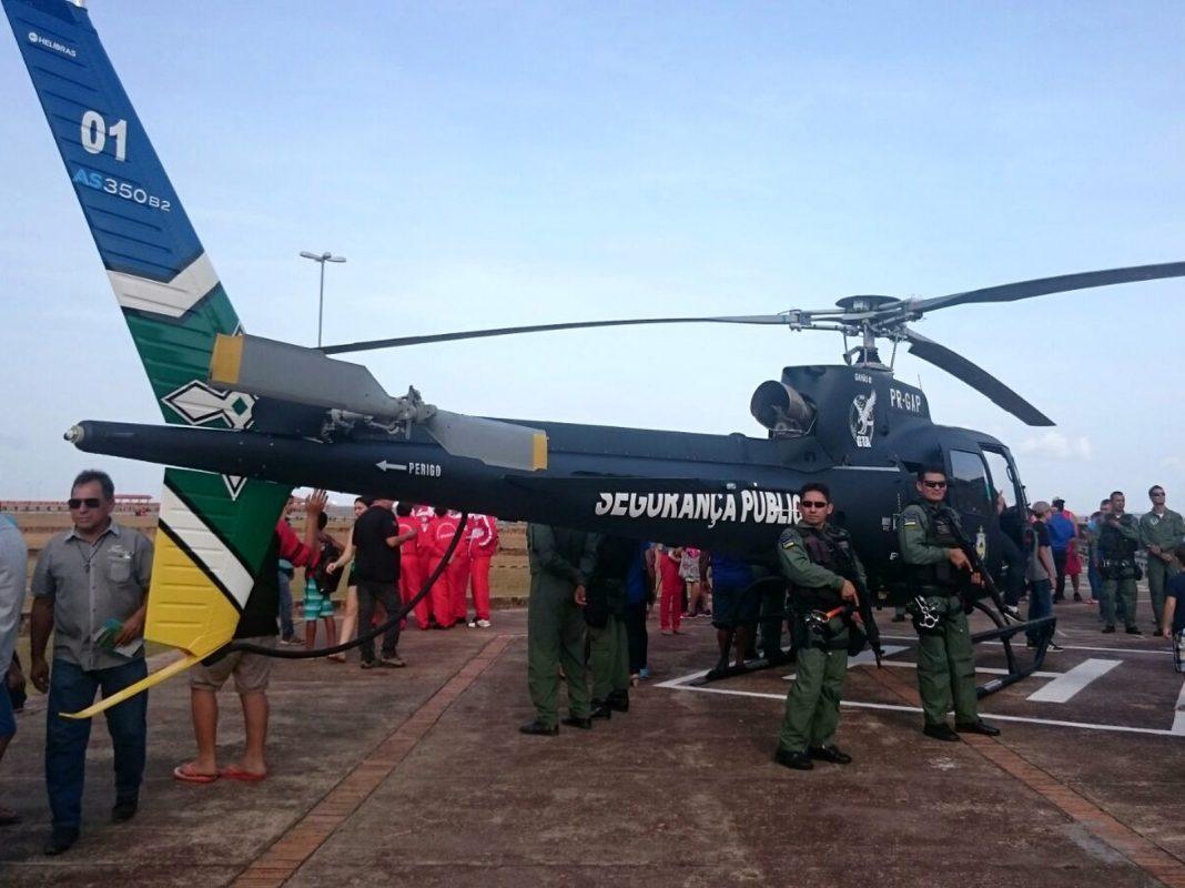 Denúncas apontam que helicóptero nomeado 'Gavião 01' estaria sendo utilizado de forma irregular (Foto: Fabiana Figueiredo/G1)