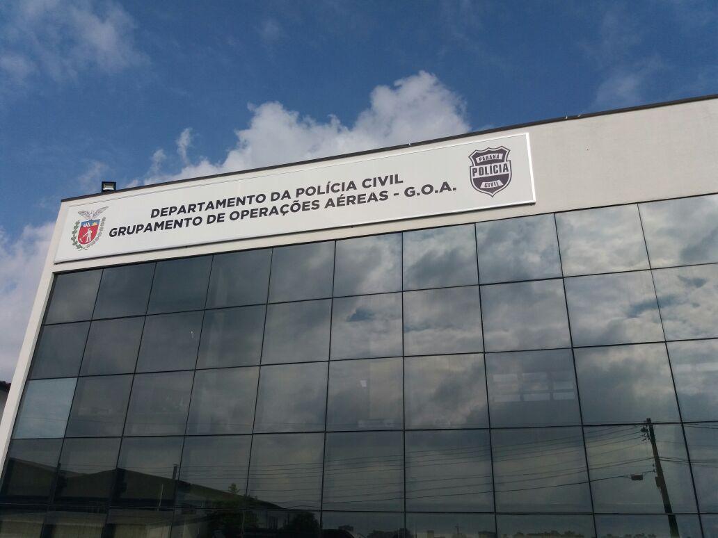Sede do GOA no Aeroporto de Bacacheri. Foto: Eduardo Beni.