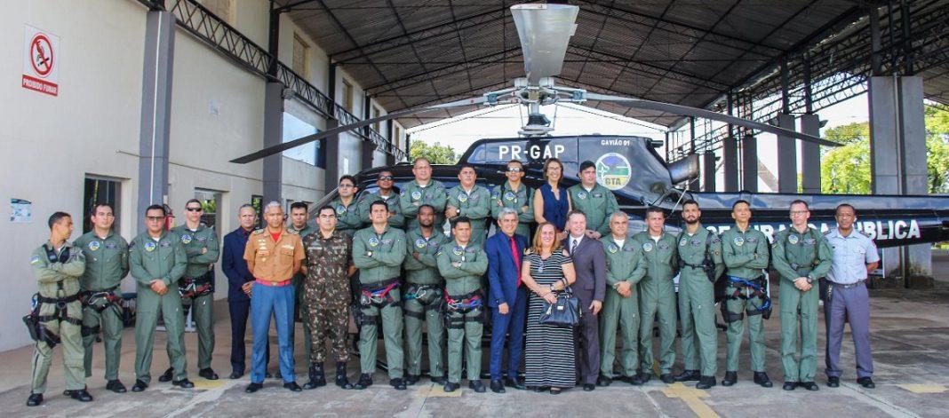 Troca de comando do Grupamento Tático Aéreo (GTA)