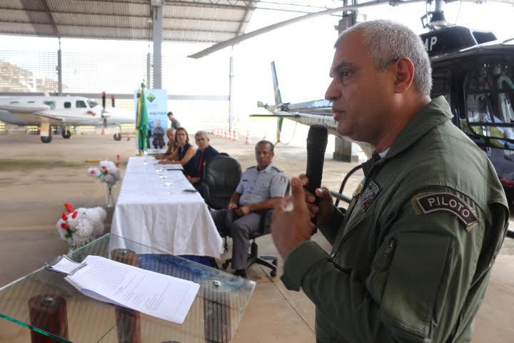 Troca de comando do Grupamento Tático Aéreo (GTA). Foto: Ruan Alves/Alap.