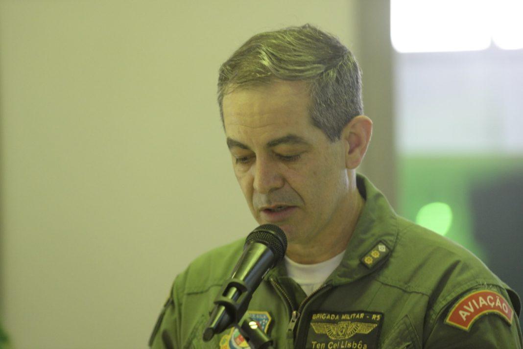 Ten Cel PM Danúbio Lisboa, comandante do Batalhão de Aviação da Brigada Militar