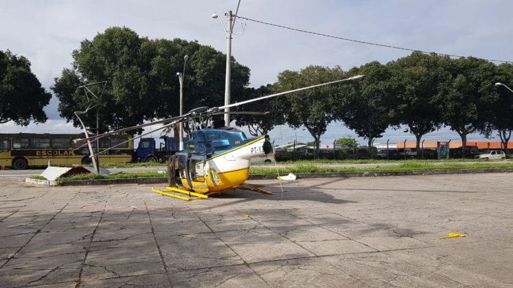 Helicóptero da PRF acidentou-se durante aproximação na UOP de Eunápolis, BA