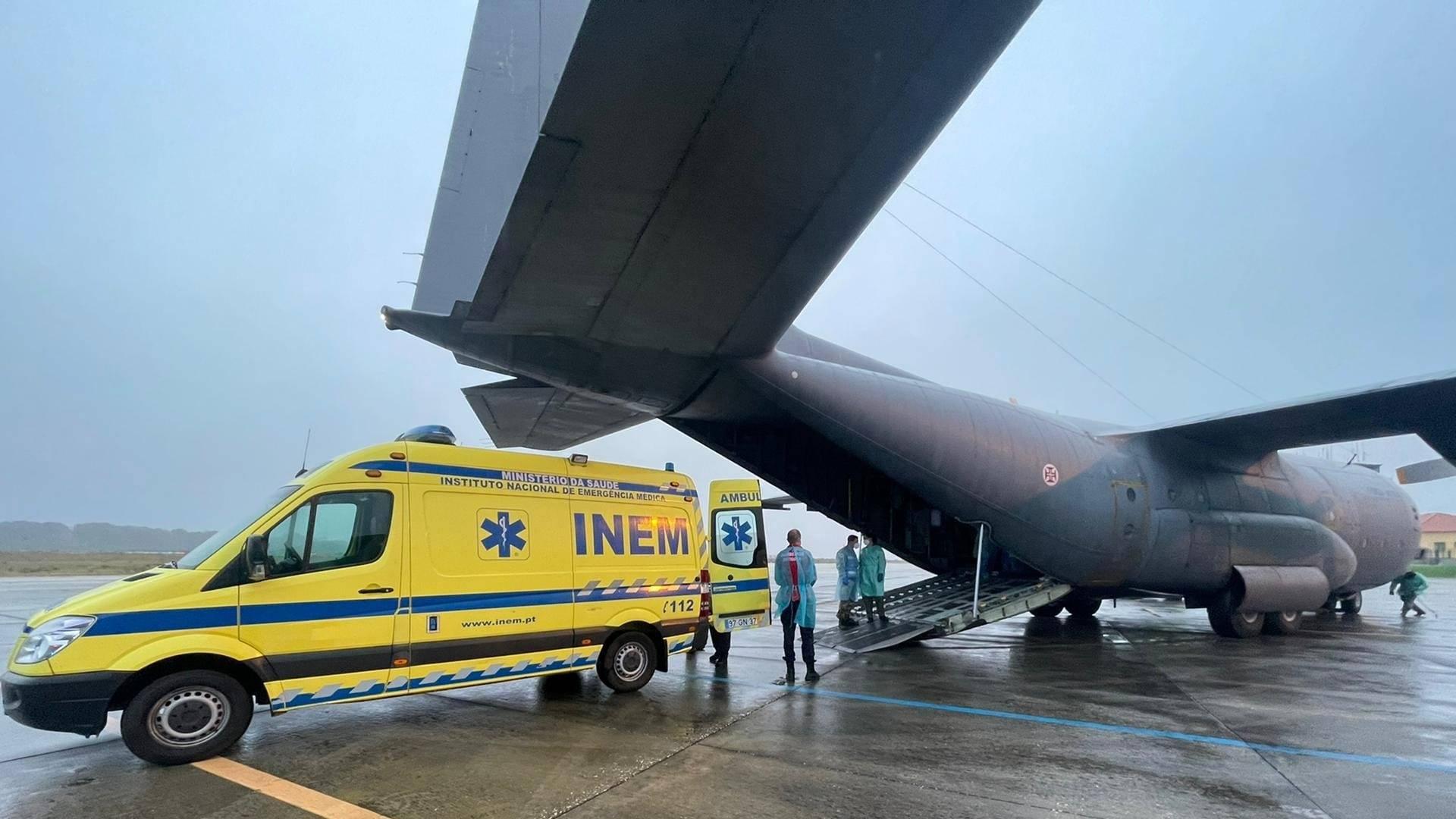Força Aérea Portuguesa realiza transporte aeromédico de paciente utilizando ECMO